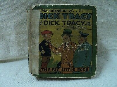 Dick Tracy and Dick Tracy, Jr. 710 (INC) Whitman 1933 Big Little Book (c#12258)