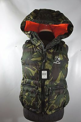 Ralph Lauren RLX Down Puffer Hooded Vest Elmwood Camo Size Small Womens Ski $298