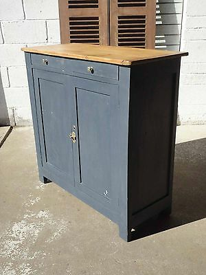 Antique Shabby Chic French Pine Painted Sideboard Cupboard With Drawers