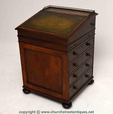 Antique William Iv Mahogany Davenport Desk - Bureau - 1830-40