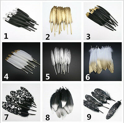 Wholesale 10-100PCS beautiful 6-30cm/2-12inch Goose feather Jewelry accessories