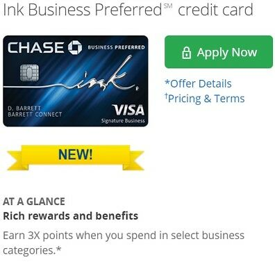 $1150 Sign Up Bonus for Chase Ink Preferred Business Credit Card Reward Referral