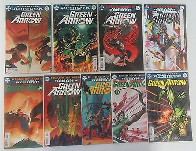 Green Arrow #4 5 6 7 8-12 Run Lot 9 Comics Rebirth 1st Prints NM/VF Percy - DC