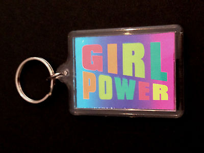 THE SPICE GIRLS / EMMA BUNTON GIRL POWER - VINTAGE 1990's ORIGINAL KEYRING. POP