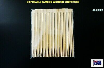 NEW Disposable Natural Bamboo Wooden Chopsticks - 50 pairs/pack (A102)