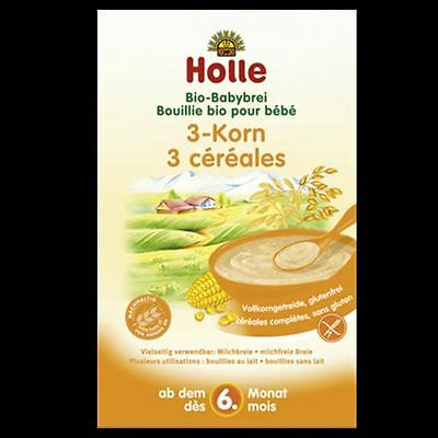 Holle Organic Porridge Baby Cereal 3-Grain 250g FREE SHIPPING