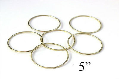 "1.5/"" Macrame Ring PACK of 25 Metal Ring Hoop Brass Gold Toned"