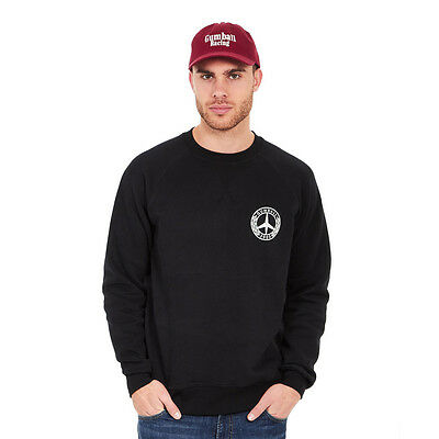 Gumball 3000 - Peace Crew Sweater Black / White Pullover Rundhals