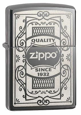 Zippo Windproof Black Ice Lighter, Zippo Quality Since 1932, 29425, New In Box