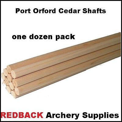 POC Port Orford cedar wooden arrow shafts 55-60 lbs1 Dozen 11/32 diameter