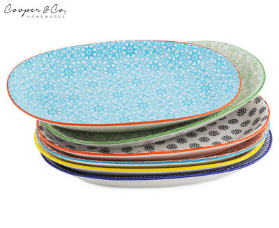 Cooper & Co. New Urban Trend 6-Piece Plate Set - Multi
