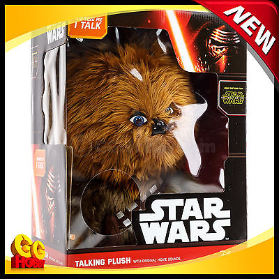 "Star Wars Chewbacca 15"" Deluxe Talking Plush Doll Wookie Underground Toys - NEW"