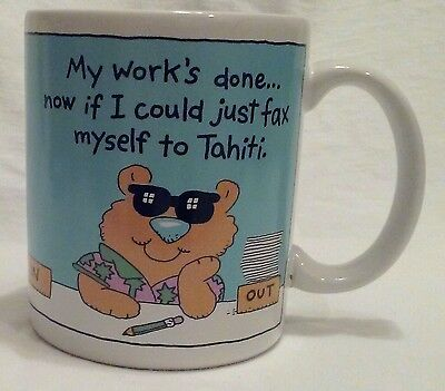 HALLMARK Coffee Cup Mug 'My Work's Done... 12oz