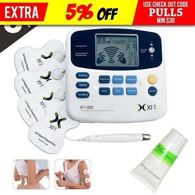 XFT Tens Machine Massager Therapy Dual Electric Stimulator LCD/Acupuncture Pen