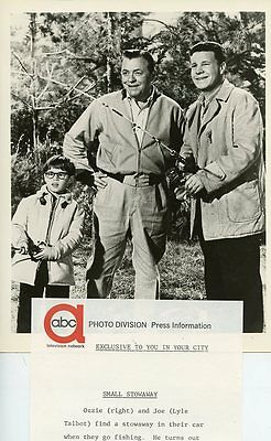 Barry Livingston Lyle Talbot Adventures Of Ozzie & Harriet 1962 Abc Tv Photo