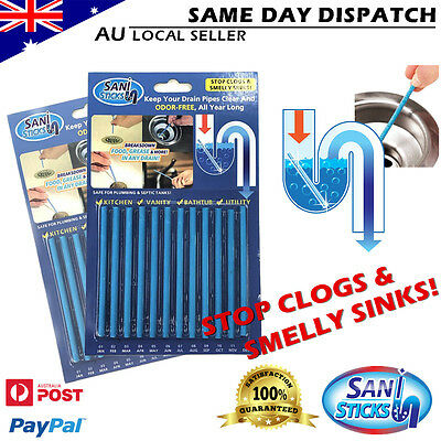 Sani Sticks As Seen on TV Drain Cleaner & Deodorizer 12 24 48 Pack