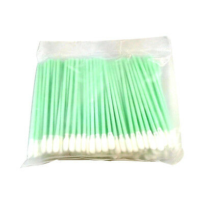 100 Foam Tip Stick Cleaning Swabs for Inkjet Printer Optical Camera Lens Clean