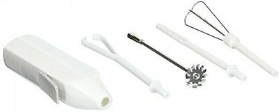 Hand Mixer Egg Beater Drink Blender Cordless Kitchen Set Includes 4 Attachments