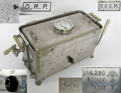 Ww2 German Drp Huge Medical Surgical Instruments Electric Sterilizer – Aesculap