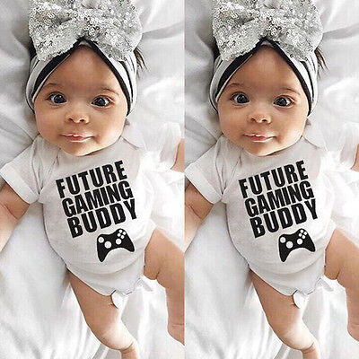 Newborn Infant Baby Girl Boy Kids Cotton Romper Jumpsuit Bodysuit Sunsuit Outfit
