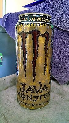 Java Monster Kona Cappuccino - Iced Coffee Energy Drink. Full, Sealed 15 oz Can