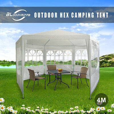 New Gazebo Mosquito Net Large Party Screen House Outdoor Hex Camping Tent White