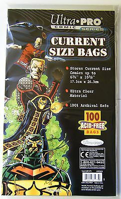 100 Current Comic Bags Ultra Pro NEW