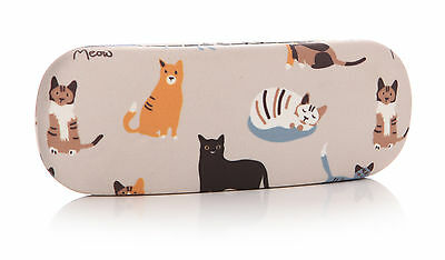 RSPCA Cat Design Oilcloth Hard Glasses Case – Spectacle Sunglasses Cloth Gift