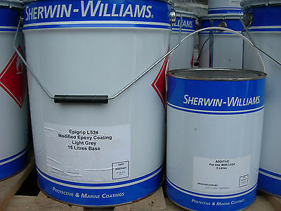Sherwin Williams L524 High Build 2 Pack Marine Epoxy Paint Grey 20 Litres £369