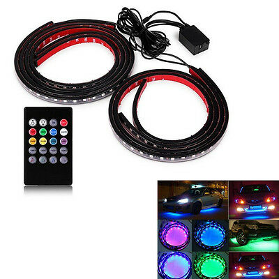 8 Color 5050 LED Underbody Under Car Lights Kit + Remote + Music Activate effect
