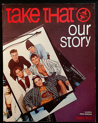 Take That - Official Our Story.  Book As To Ld To Piers Morgan 1993. Pop Music