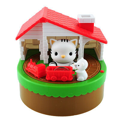 Stealing Coin Cat Mouse Coins Penny Cents Piggy Bank Saving Box Money Box Kids