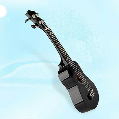 "21"" Soprano Hawaiian Guitar 12 Frets Ukulele Uke Musical Instrument Wood Black"