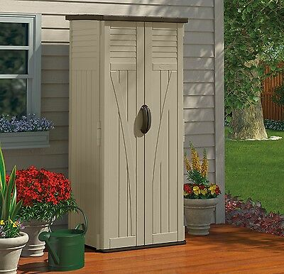 Outdoor Storage Cabinet Garden Shed Tools Patio Vertical Backyard Pool Tall New