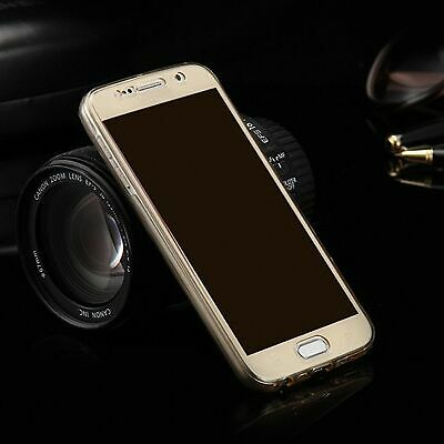 Samsung Galaxy S6 Edge Full Body 360 Silikon Schutzhülle Handy-Hülle Case Gold