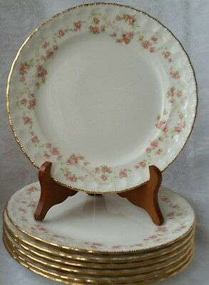 "Pope Gosser Florence Dinner/lancheon  Plates 9 1/4""  Set Of 8"