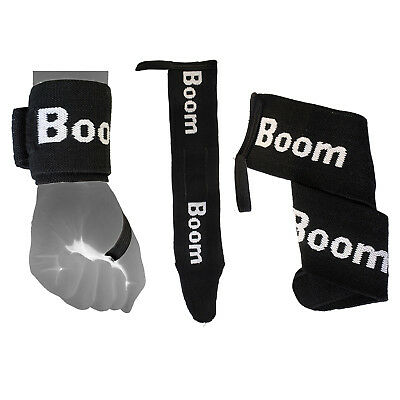 BOOM Prime Weight Lifting Wrist Wraps Bandage Hand Support Gym Straps Training