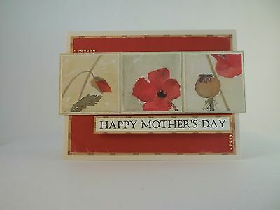 Poppies Happy Mother's Day Greeting Card Blank Inside Envelope Included