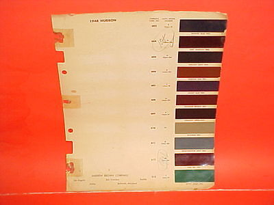 1948 Hudson Super Commodore Brougham Convertible Club Coupe Sedan Paint Chips 48
