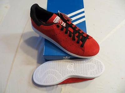Adidas Stan Smith Originals (M17159) Men's Sz 9.5 Weave Casual Red/black/white