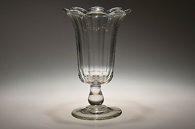 c. 3Q 1800s PILLAR MOLD  by Pittsburgh Area FLINT CRYSTAL Celery Vase