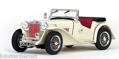 MG TC Open in Cream / Red 1/43 scale model by VITESSE