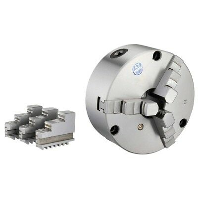 """Vertex 5"""" 3-Jaw Front Mount Lathe Chuck With 2 Sets Of Jaws"""