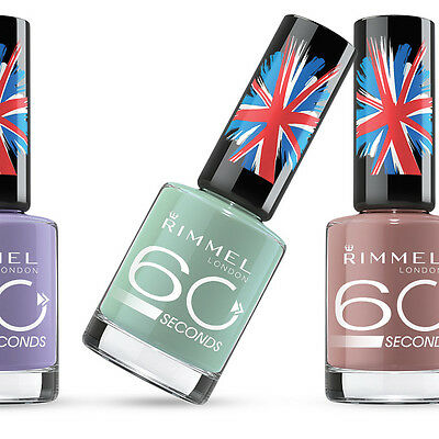 RIMMEL 60 SECONDS Nail Polish / Varnish 8ML - BRAND NEW - CHOOSE A SHADE -