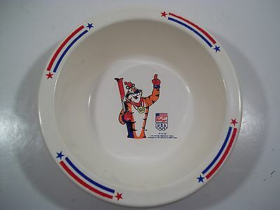 Vintage 1992 *kellogg's Tony The Tiger* Olympic Sponsors Cereal Bowl - Skier!