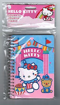 Sanrio HELLO KITTY Small SPIRAL Notebook! NEW PACK Circus Clown FUN!