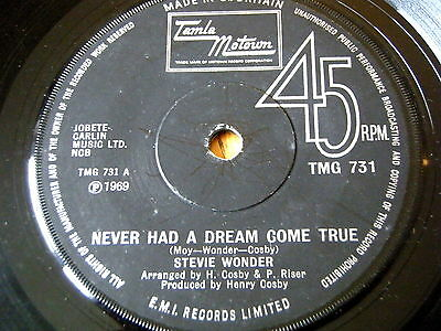"Stevie Wonder - Never Had A Dream Come True  7"" Vinyl"