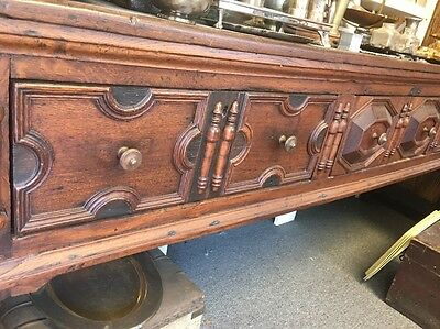 17Th Century Charles II Oak Longdresser