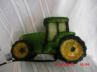 green tractor lamp