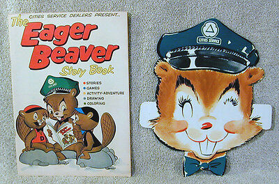 Vintage Cities Service Eager Beaver 1959 Comic Book and Mask